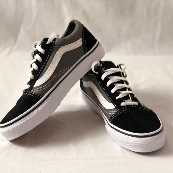 Vans Old Skool Black Pewter Kids Size 2.5 086c40ddc